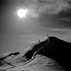 [フリー画像素材] 自然風景, 山, 太陽, モノクロ ID:201209241600