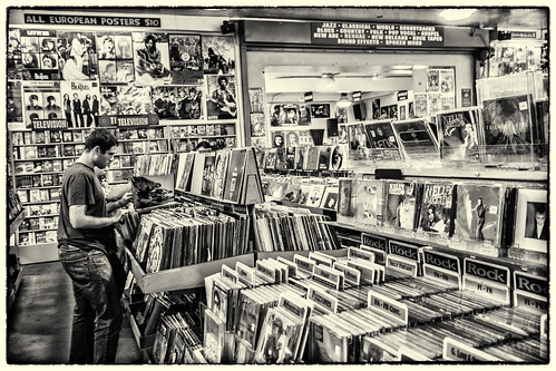 Amoeba Records - Berkeley, California (09-2012) -b (b&w) by joeeisner