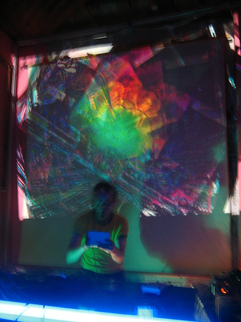 DJ in front of VJ-work at ATE BIT VOMIT BERLIN #2 (Sep 15, 2012)
