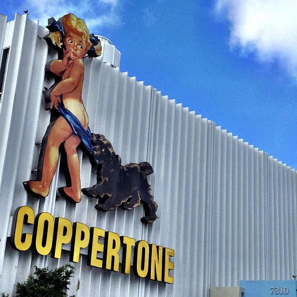 Photo:Historic Coppertone Girl By:miamism