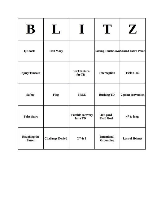 Blitz NFL Bingo @ Blitz 99W