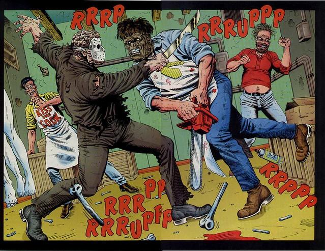 Jason vs Leathe... Jason Vs Michael Myers Comic