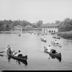 Canoeing on the Charles at Norumbega Park, Newton