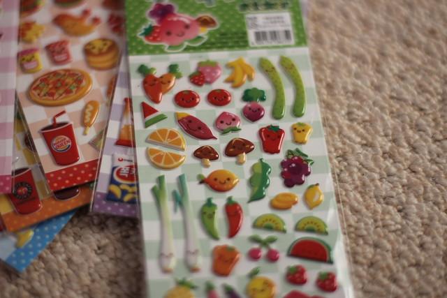 kawaii stickers - kawaii fruit and vegetable stickers