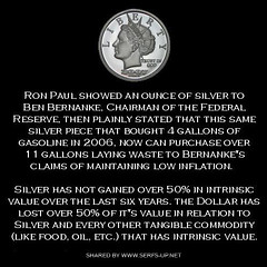 Ron Paul, Bernanke & The Silver Coin