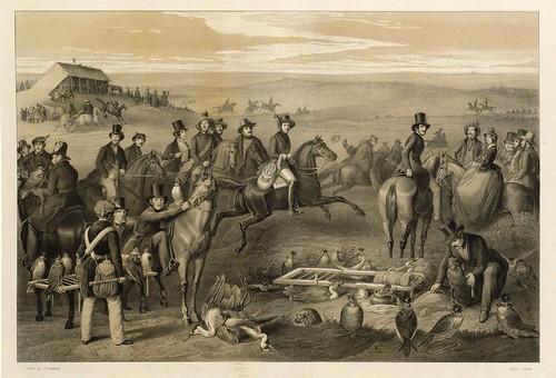 002-La caza de la garza 1- Traité de fauconnerie..1853- Hermann Schlegel- Universität Düsseldorf