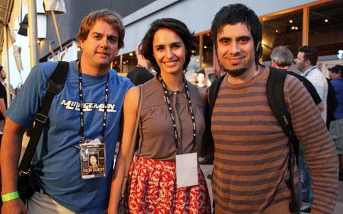 Derek Rundell, Fernanda Urrejola, Enesto Diaz Espinoza of BRING ME THE HEAD OF MACHINE GUN WOMAN