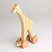 Hand-Made Wooden Toy Giraffe
