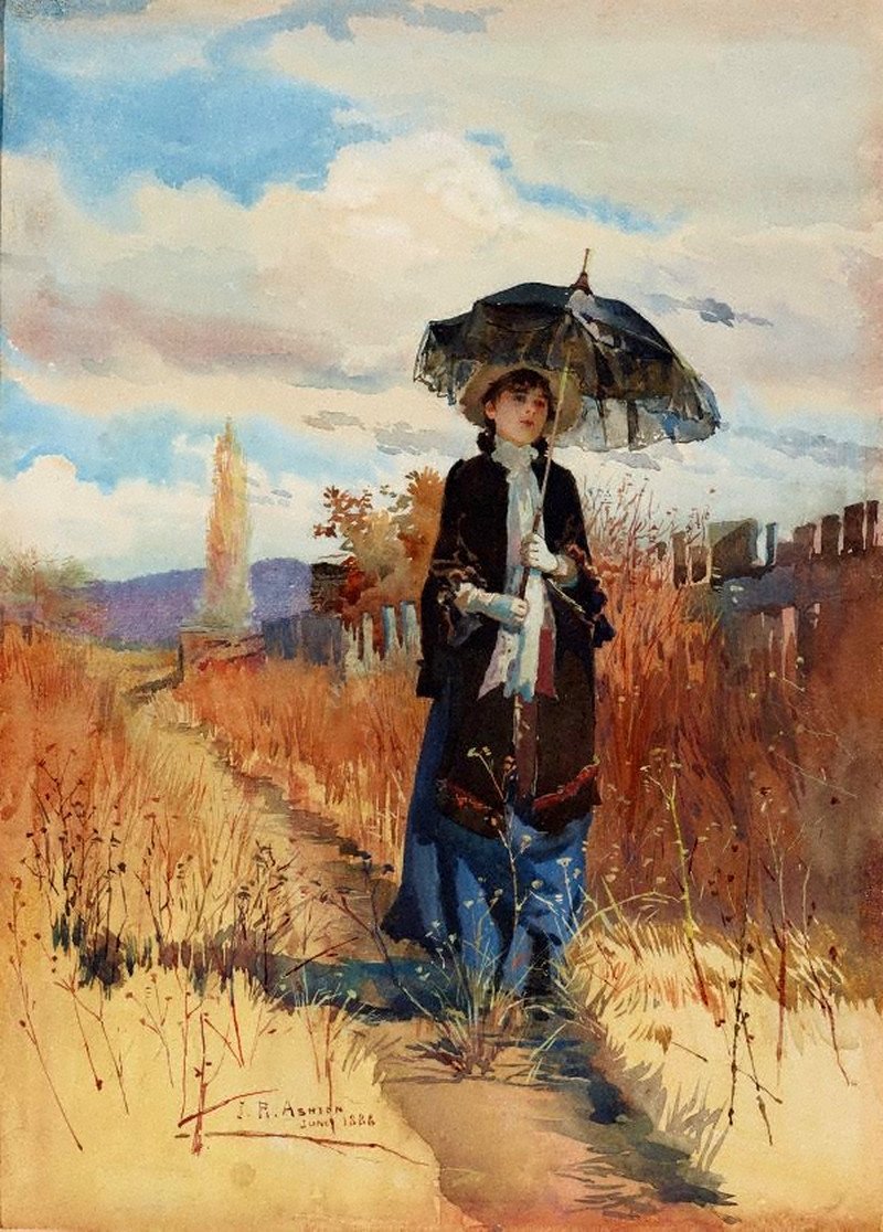 A Solitary Ramble by Julian Ashton, 1888