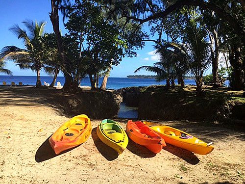 Vanuatu is a great place for soft adventure and kayaking is a popular activity for travellers.