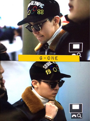 G-Dragon & TOP - Incheon Airport - 30jan2015 - G-Dragon - G-One - 02