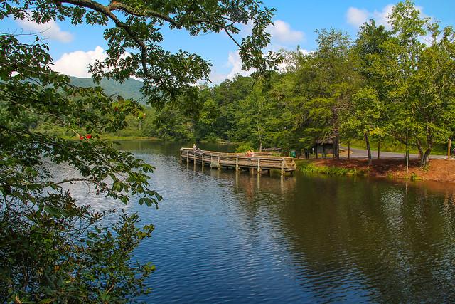 Lake powhatan fishing pier pisgah national forest north for Take me fishing lake locator