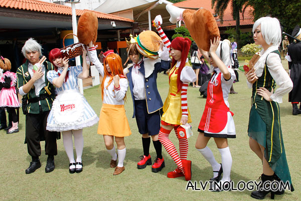 I quite like this set of fastfood restaurants inspired cosplay costumes