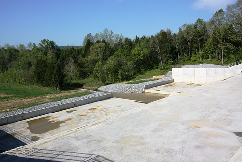 The renovated Fox Creek flood control dam in Kentucky.