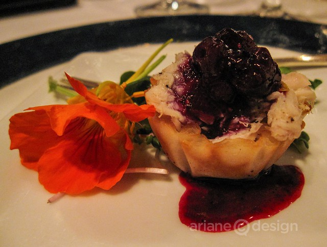 Windjammer Restaurant/Citrus halibut, blueberry compote