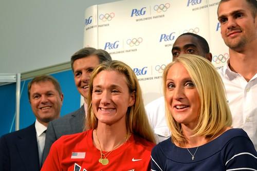 Paula Radcliffe en conferencia P&G Londres 2012