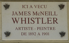Photo of James Abbott Mcneil Whistler white plaque
