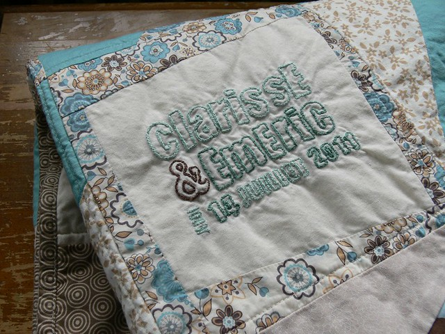 Jenny: Finished Wedding Quilt!