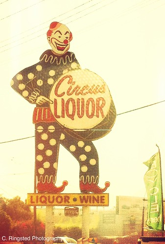 Ginormous Liquor Clown Sign by Sanctuary-Studio