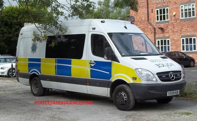 Staffordshire police- mercedes ben sprinter public order van.