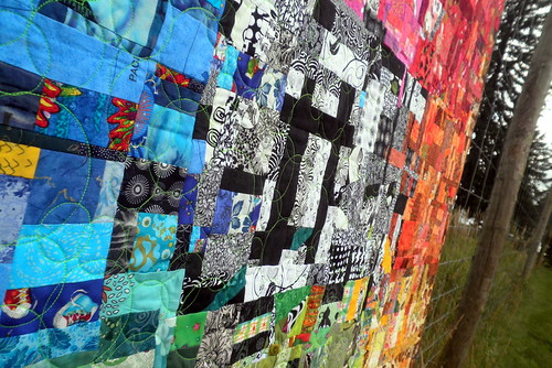 Amazing Technicolor Dream Scrap Quilt