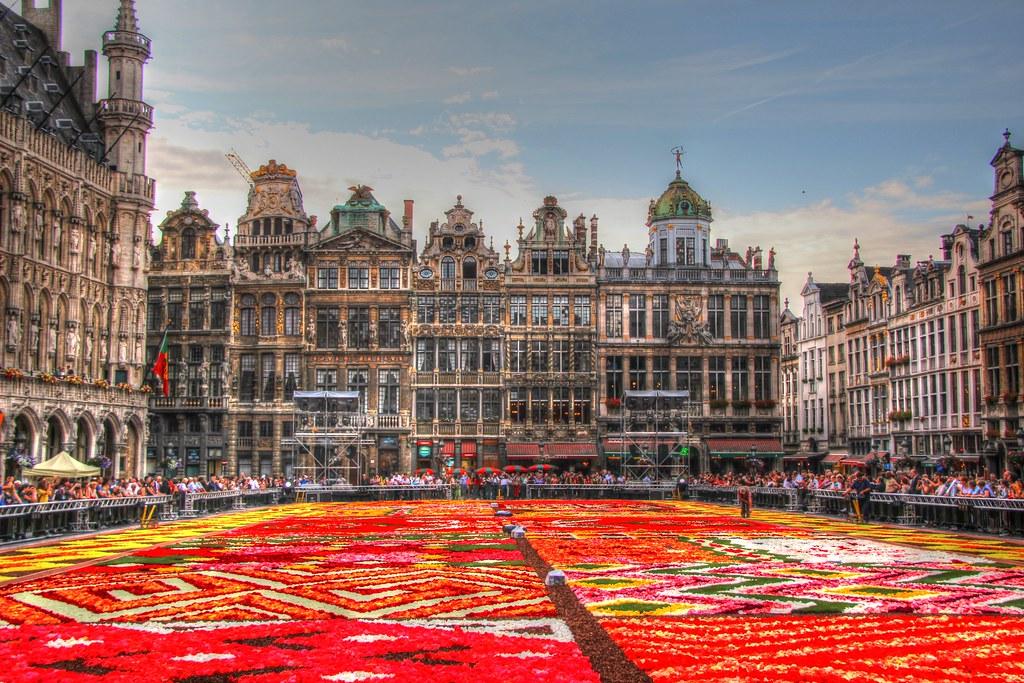 Belgique - Bruxelles - Grand-Place - Tapis de Fleurs 2012