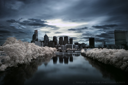 philadelphia darkcity schuylkillriver infraredphotography centercityphiladelphia longexposurephotography darthbayne brucewaynephotography fullspectrum350d philadelphiainfrared