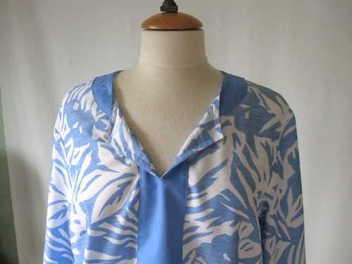 blue tunic inside neckline
