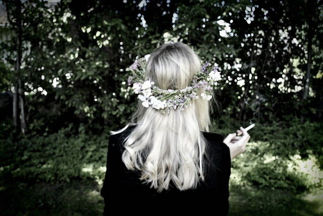 I smoked my last cigarette with flowers in my hair