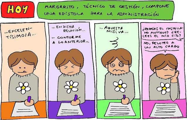 Margarito, técnico de gestión, compone una epístola para la Administración