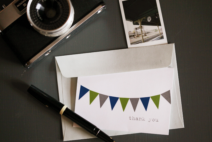 {friday freebie} thank you bunting in navy and olive