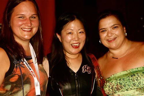 Sarah, Margaret Cho, and me.