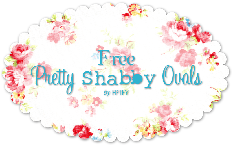 Free Shabby Vintage Rose Oval  by FPTFY web ex