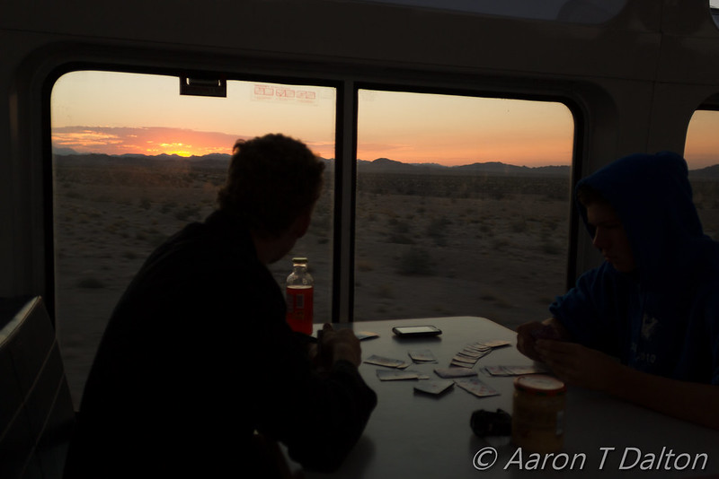 Sunrise Over Mojave by Train