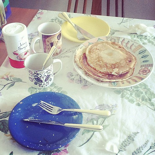 Who will clear the table? #pancake #food #sunday #morning