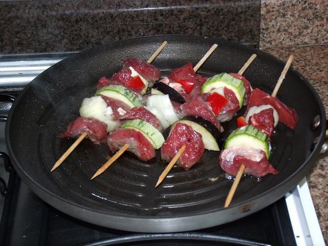 Espetinhos de carne - Foto de Vanessa de Andrade