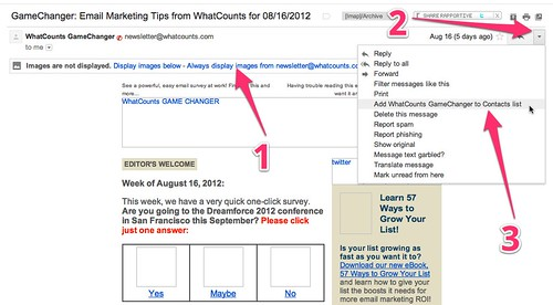 GameChanger: Email Marketing Tips from WhatCounts for 08/16/2012 - cspenn@gmail.com - Gmail