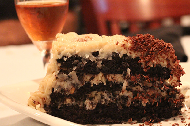 German Chocolate Cake, Duval's New World Cafe, Sarasota, FL