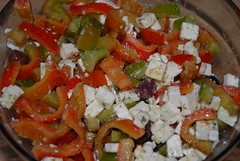 Insalata di peperoni e feta / Salad with sweet peppers and feta
