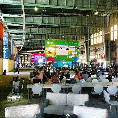 Campus Party landing in Berlin. Utter crazy town of makers, gamers and net people.