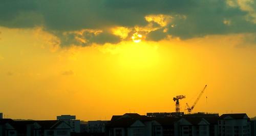 sunset sun singapore 日落 sunsetscene linkway88 09082012a 日落景色