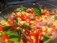 My contribution -roasted corn salad