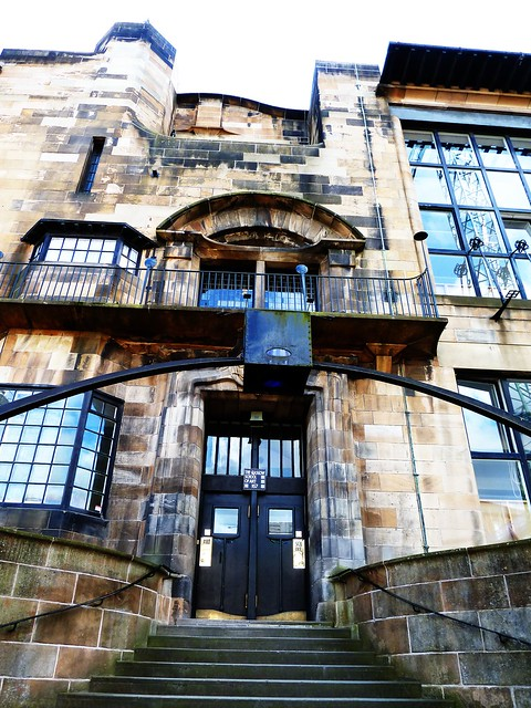 Entrance to Glasgow School of Art, Glasgow