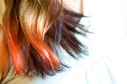 DIY dip dye hair