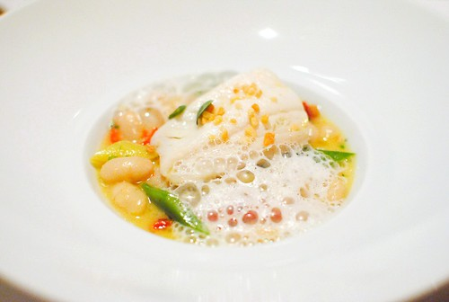 Black Cod Confit tarbais beans, piquillo pepper, green almond