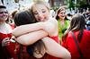 Student overjoyed at Bid Day 2012