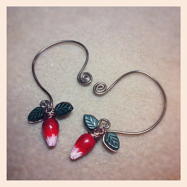 how to make luna lovegood radish earrings