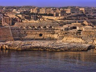 Sailing into Valletta, Malta