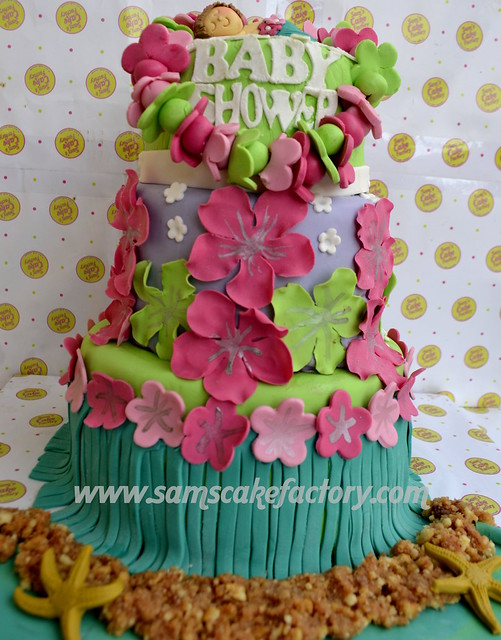 hawaiian theme baby shower cake flickr photo sharing