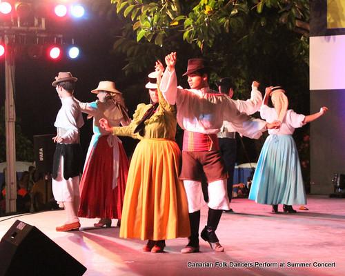 Canarian traditional folk dancers